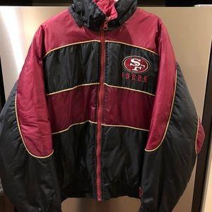 Vtg 90s San Francisco 49ers Puffy Puffer Jacket
